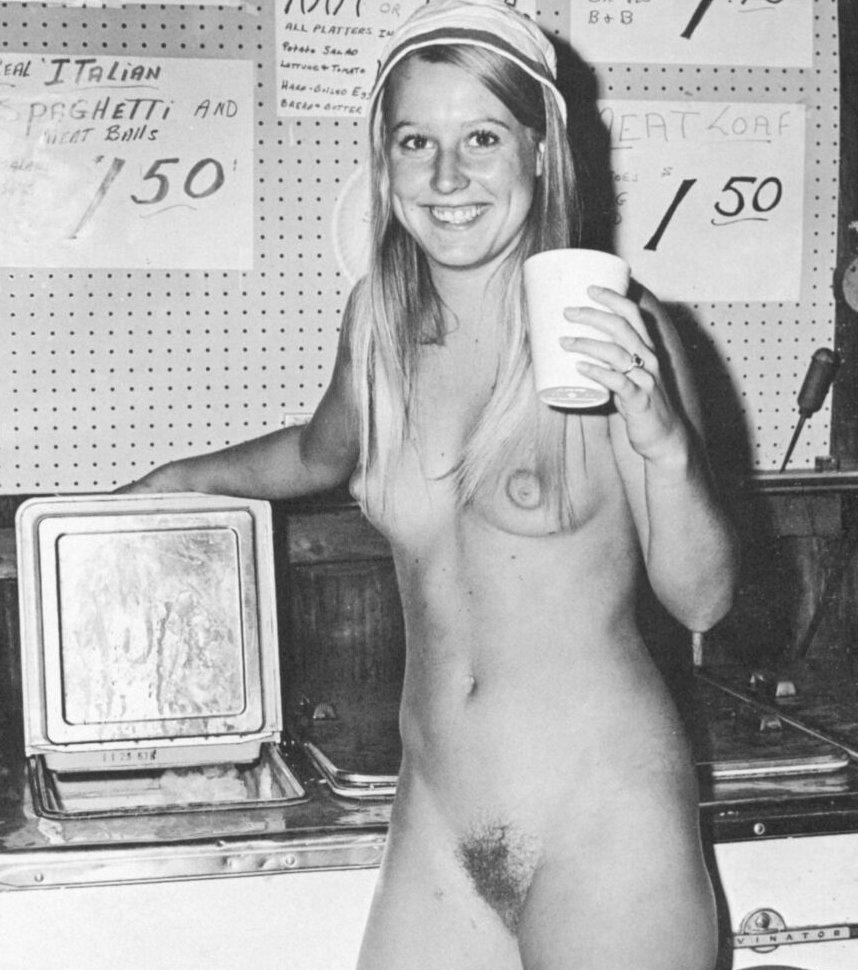 Linda gets a drink | Vintage Nudist Icons