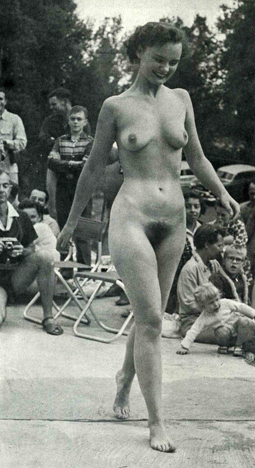 Retro nudist pageants