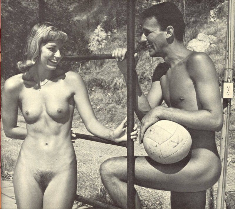 rosie with a friend vintage nudist icons