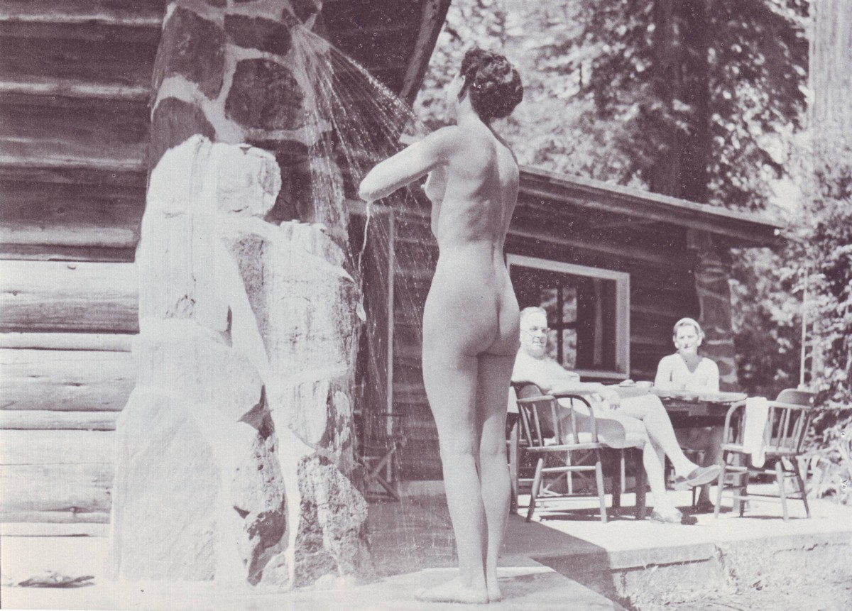 Vintage nudist family exact